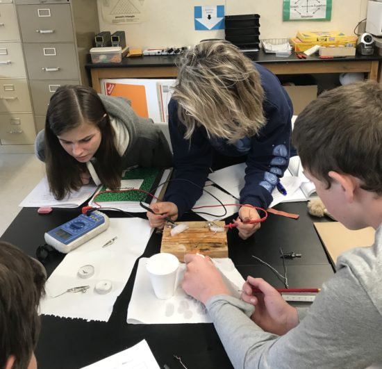 Student look to identify the hidden/wasted energy in a hands-on experiment.