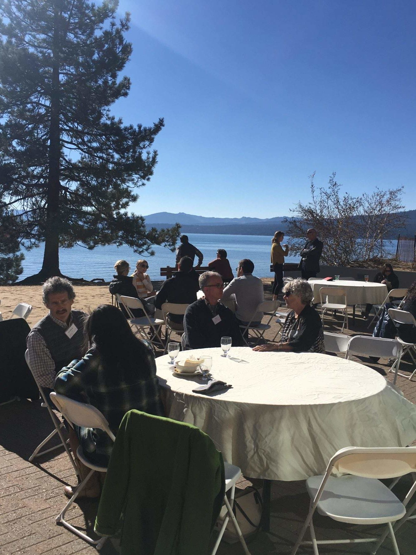 Lunch held on the patio of the North Tahoe Events Center