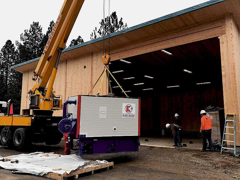 Construction of the Biomass Boiler in Quincy, CA
