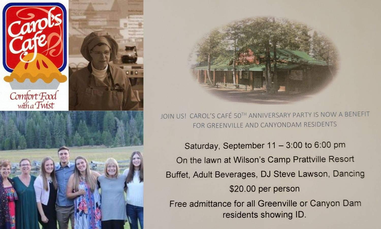 Carol's event page image